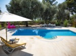 Pool Area with Seating Area under the Olive Trees